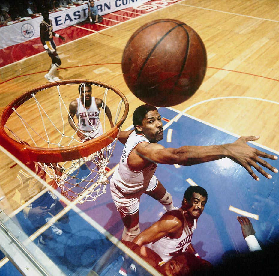 Dr. J finished his career with 1,293 blocks and an average of 1.55 per game.