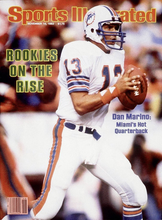 Dan Marino appears on the Nov. 14, 1983 cover of Sports Illustrated.