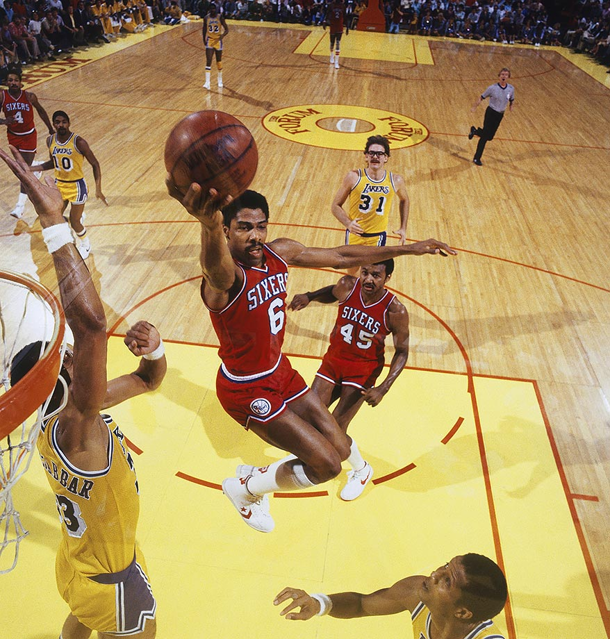Dr. J helped the Sixers sweep the Lakers to win the 1983 NBA title.