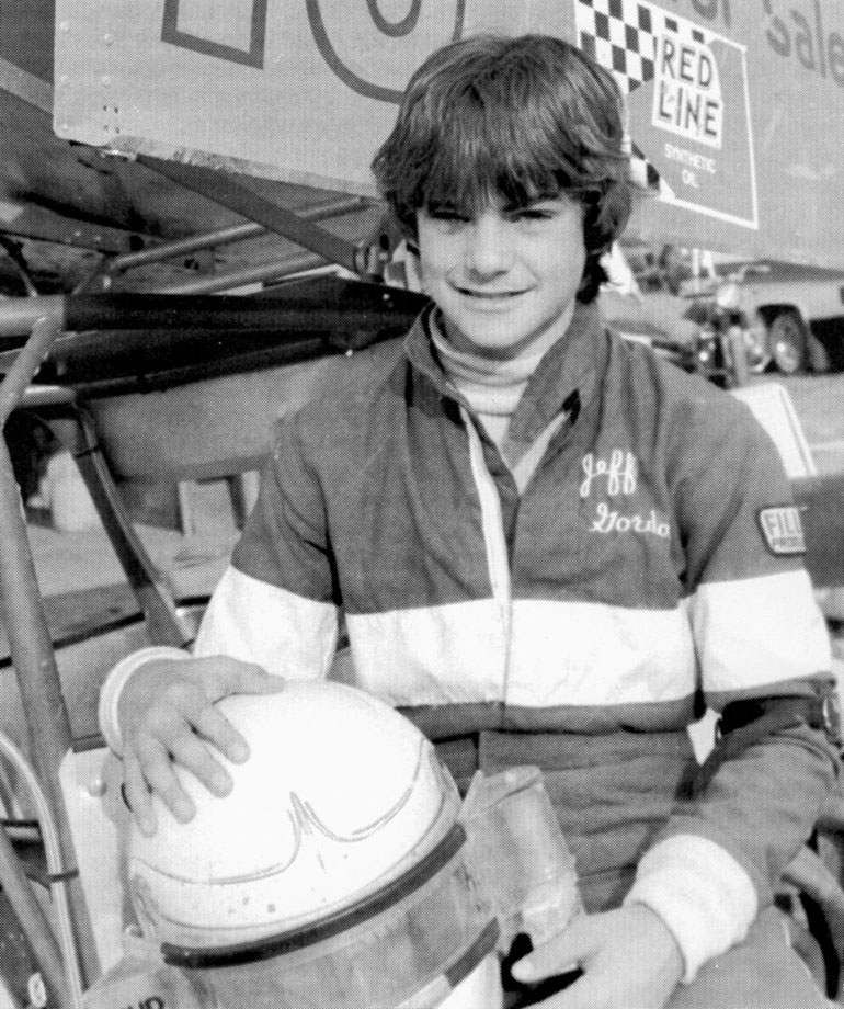 Jeff Gordon raced sprint cars on dirt when he was a mere 13 years old.