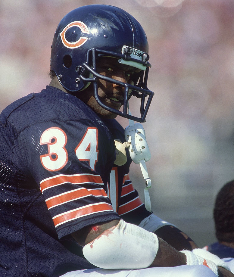 """He was a great warrior,"" Jim Brown said. ""If a guy runs out of bounds because a corner is coming up to get him, that's not my kind of guy. Walter was definitely (my kind of player) because he was a power man. Give me the heart of Walter Payton ... there's never been a greater heart."""