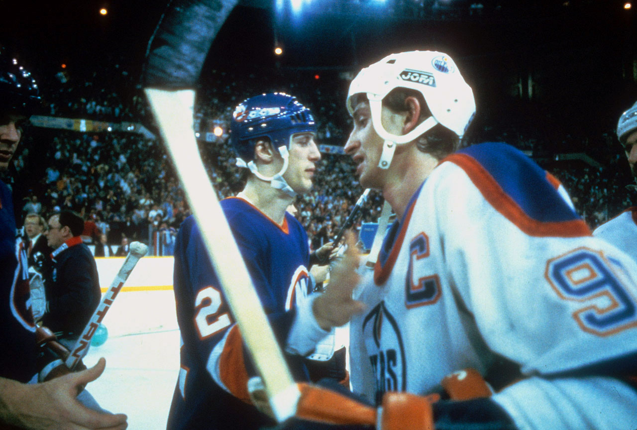 In a passing of the dynastic torch, the glum and weary Islanders sniper gave the Great One a pat on the crest after the Oilers ended New York's four-year run of Stanley Cups with a 5-2 win in Game 5 in Edmonton. Gretzky would lead his team to another three Cups during the next four years.