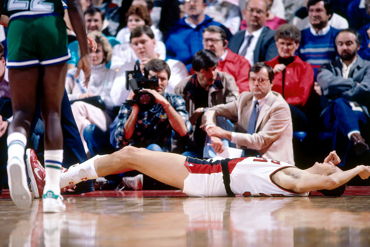His selection underscores the cardinal rule behind NBA Draftology: You can't draft for need. The Blazers, flush with Jim Paxson and Clyde Drexler on the wings, needed a center and passed on drafting Michael Jordan, Charles Barkley and John Stockton. Bowie struggled with injuries throughout his 10-year run and finished with career averages of 10.9 points and 7.5 rebounds.