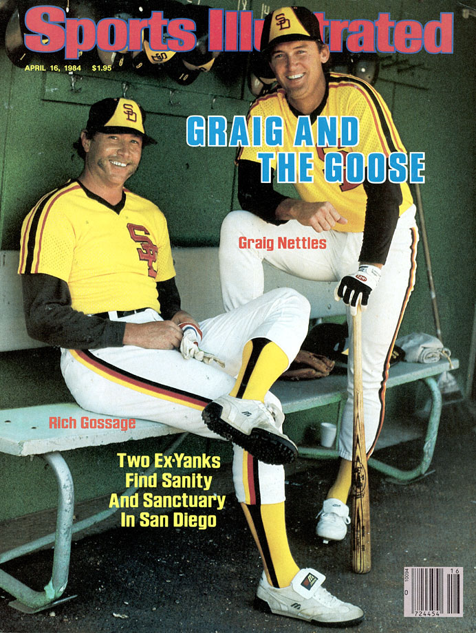 After helping the Yankees to three AL East titles, two pennants and the 1978 World Series championship in six seasons in the Bronx, Gossage joined fellow ex-Yankee Graig Nettles in title-starved San Diego for the 1984 season. The New York expatriates helped lead the Padres to their first NL West crown, with Gossage collecting 10 wins and 25 saves during the regular season.