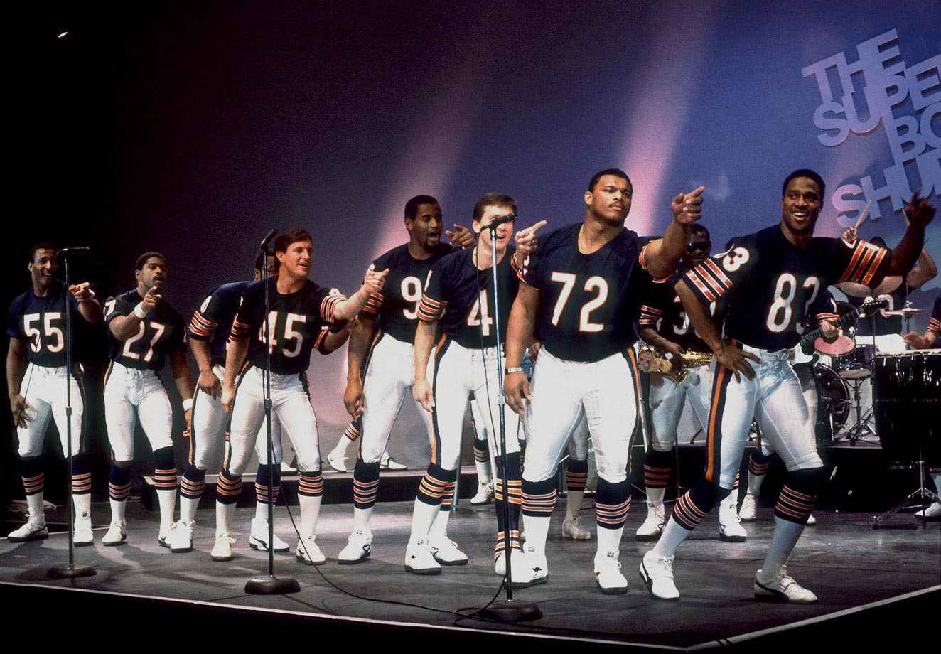 "Dec. 3, 1985 — ""Super Bowl Shuffle"" music video"