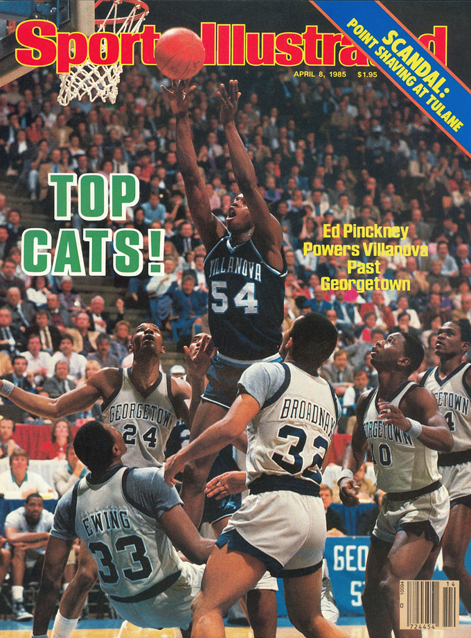 With stars like Patrick Ewing, Reggie Williams and David Wingate, Georgetown was the obvious favorite in the '85 final, especially since it had beaten Villanova twice in the regular season. The Wildcats shot 78.6 percent in the second half, though, defeating the Hoyas 66-64.