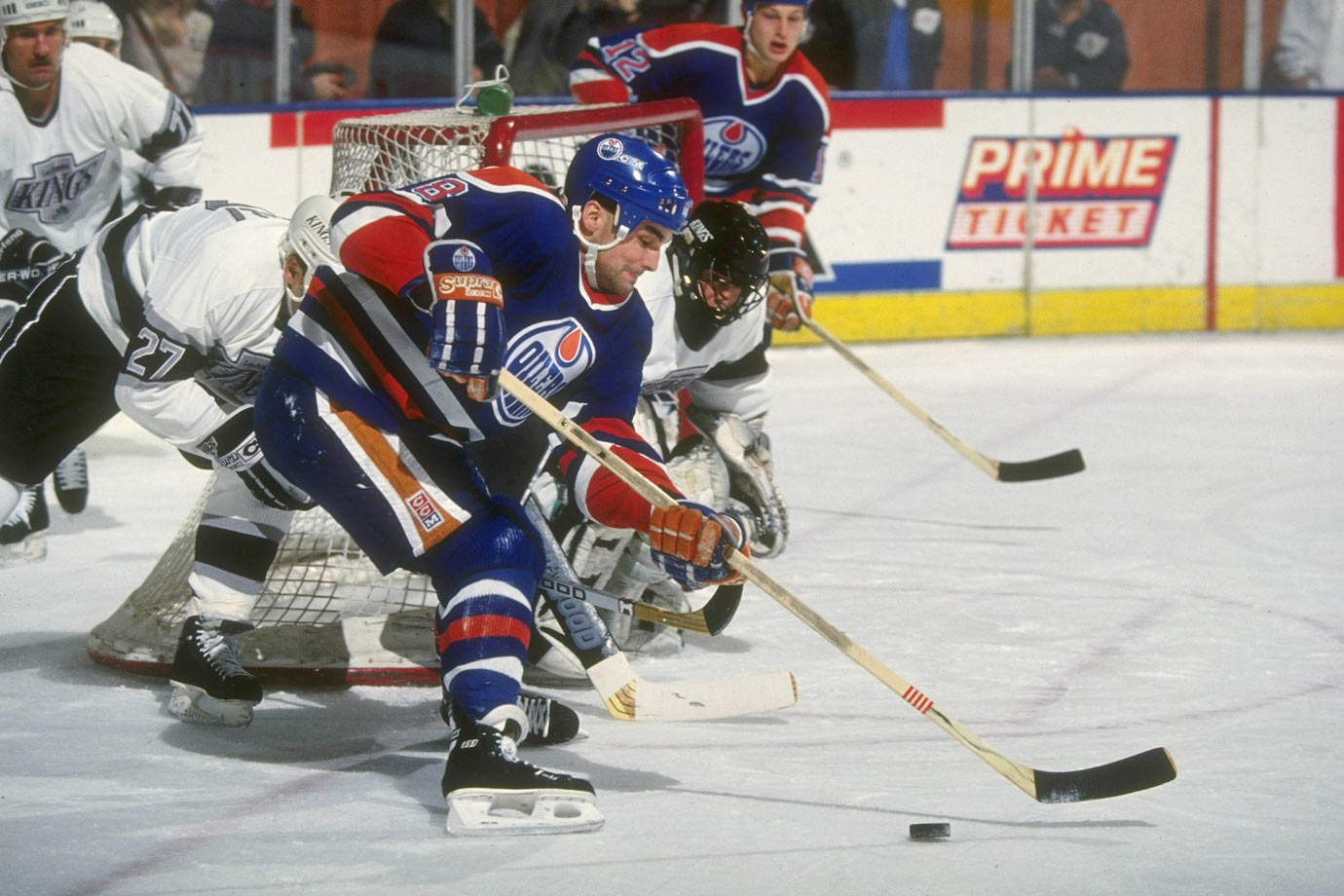 <p>A disappointment in Detroit, Murphy skated on a Stanley Cup-winner in Edmonton in 1989-90, and had his peak season with the Oilers (35 goals in 1991-92). In all, though, his was a journeyman's career: 528 total points for seven teams over 14 seasons. — Notable picks: No. 2: Jimmy Carson, C, Los Angeles Kings | No. 9: Brian Leetch, D, New York Rangers | No. 22: Adam Graves, LW, Detroit Red Wings</p>