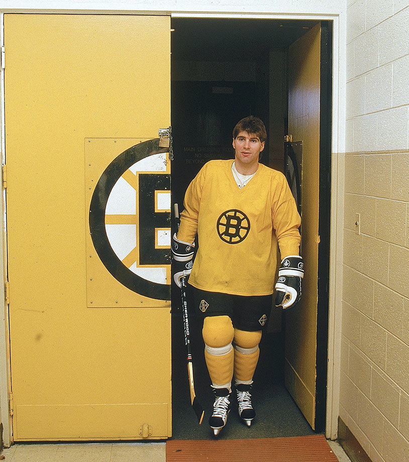 Feb. 27, 1987 — Boston Bruins practice