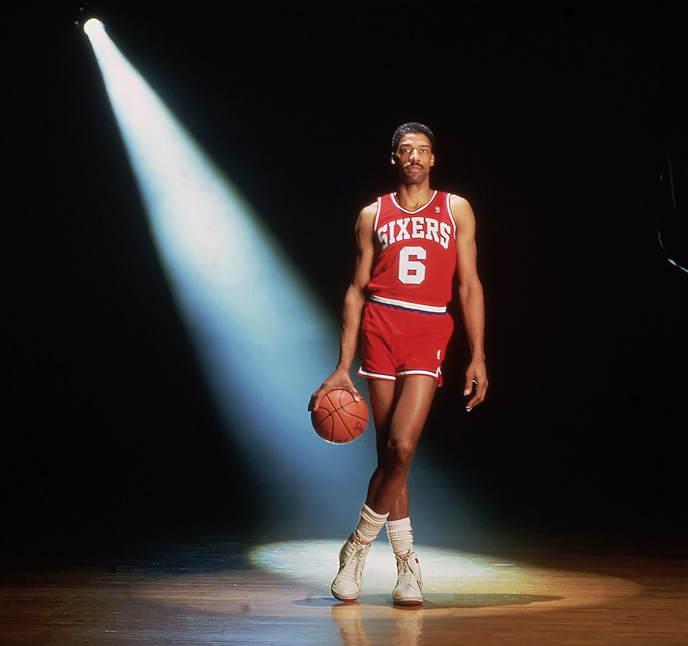 Dr. J never shied away from the spotlight, tantalizing crowds with his electric play throughout his career.