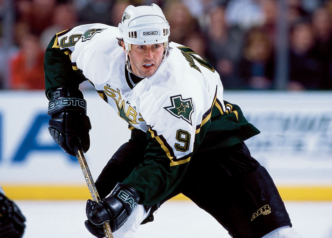 The Hall of Fame awaits the all-time leading scorer among American-born players. A formidable package of speed, skill and size, the seven-time All-Star led the Dallas Stars to the Stanley Cup in 1999. — Notable picks: No. 2: Trevor Linden, RW, Vancouver Canucks | No. 8: Jeremy Roenick, C, Chicago Blackhawks | No. 9: Rod Brind'Amour, C, St. Louis Blues | No. 10: Teemu Selanne, RW, Winnipeg Jets | No. 67: Mark Recchi, RW, Pittsburgh Penguins | No. 68: Tony Amonte, RW, New York Rangers | No. 70: Rob Blake, D, Los Angeles Kings | No. 89: Alexander Mogilny, RW, Buffalo Sabres