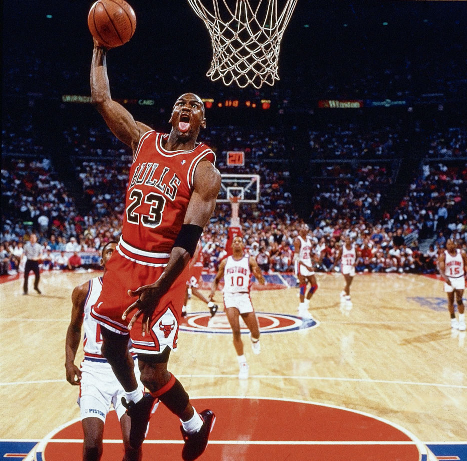 Michael Jordan dunk contest photo explained by SI ...