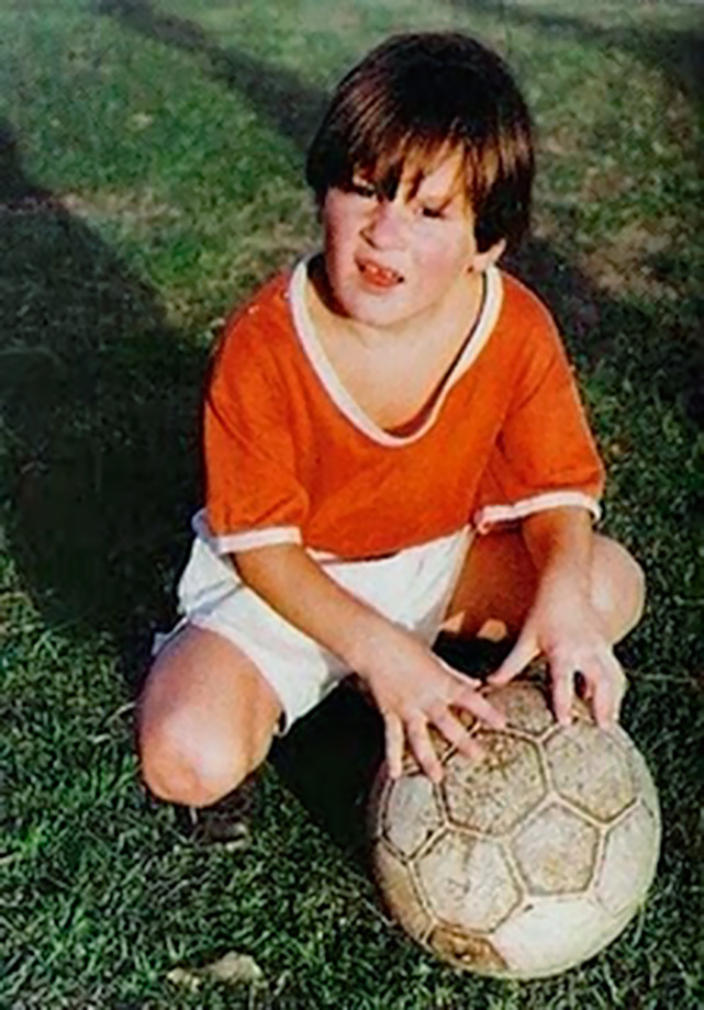 A young Lionel Messi poses for a photo in Argentina circa 1993.