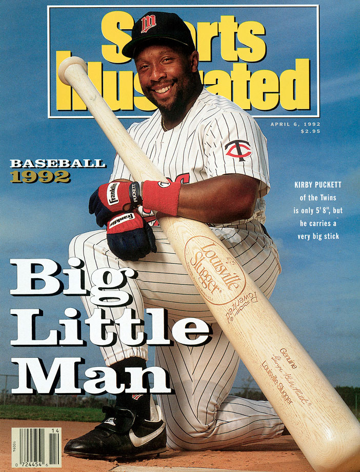 Kirby Puckett appears on his second SI cover during spring training in Florida.