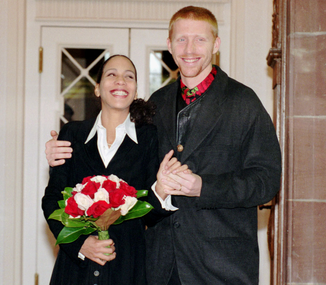 Boris Becker and Barbara Feltus