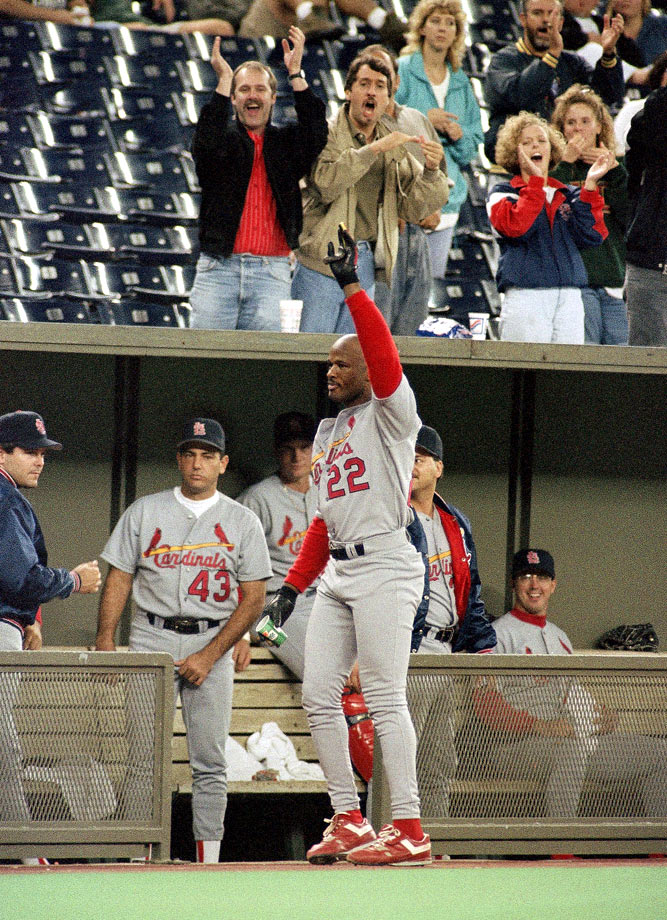 Whiten's performance came in game two of a doubleheader, a 15-2 Cardinals win over the Cincinnati Reds. But Whiten was a big reason why St. Louis lost the opener, misplaying a Reggie Sanders ninth-inning line drive in a 14-13 game. Whiten matched Jim Bottomley for the most RBI in one game — 12.