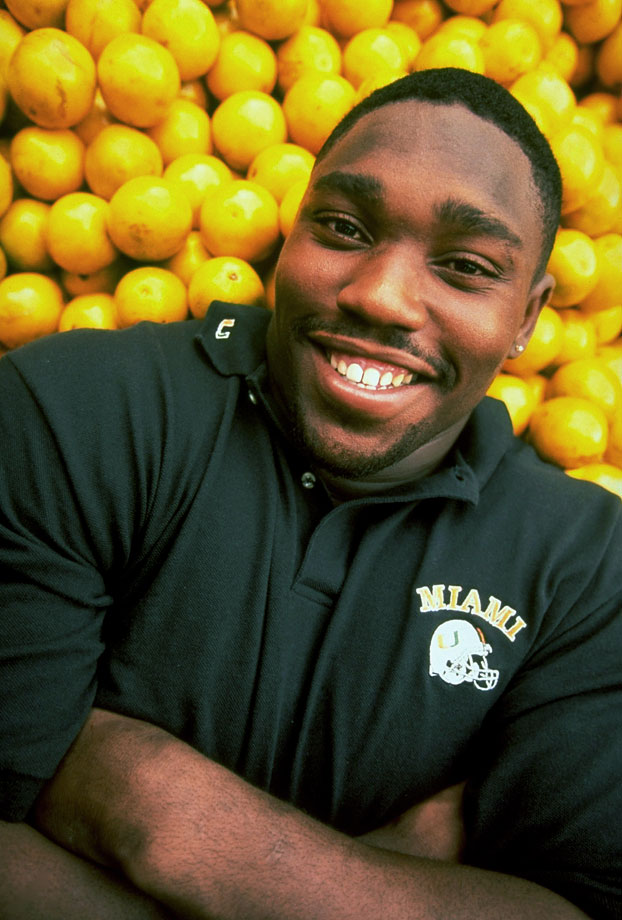 Warren Sapp poses for a portrait on Oct. 13, 1994 in Miami.