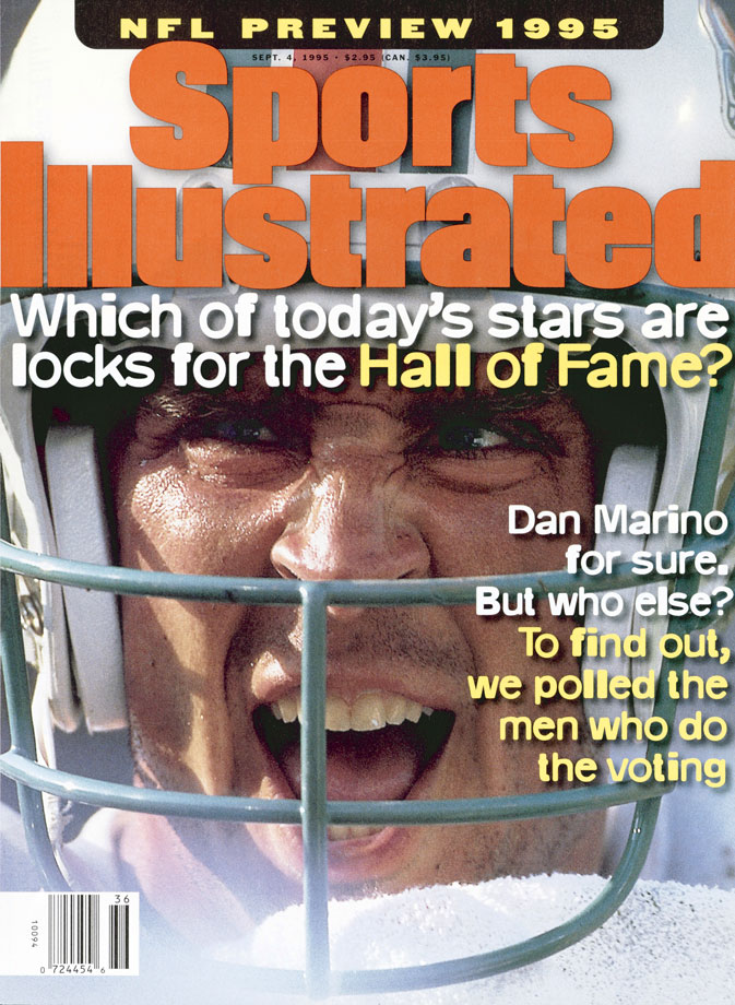 Dan Marino appears on the Sept. 4, 1995 cover of Sports Illustrated.