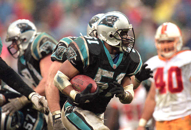 Mills played just three seasons with Carolina, his last, but stamped his image on the franchise. He died in 2005 at age 45.