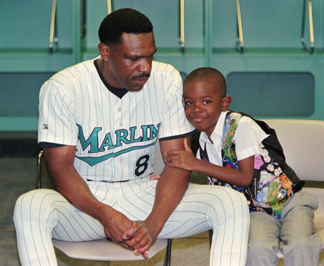 Andre Dawson and son Darius