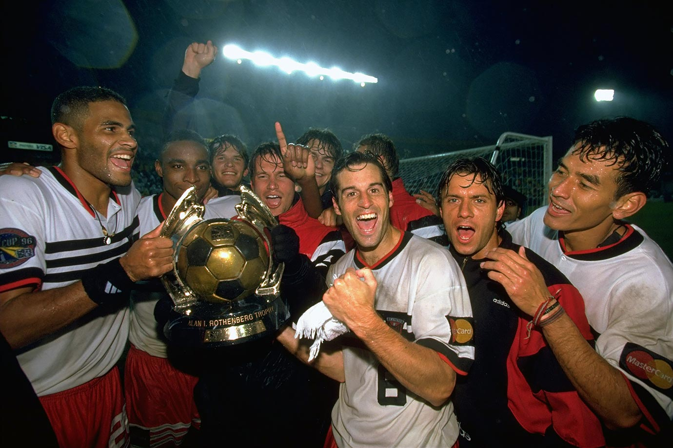 <p>1996 — D.C. United (beat LA Galaxy 3-2 in extra time)</p>
