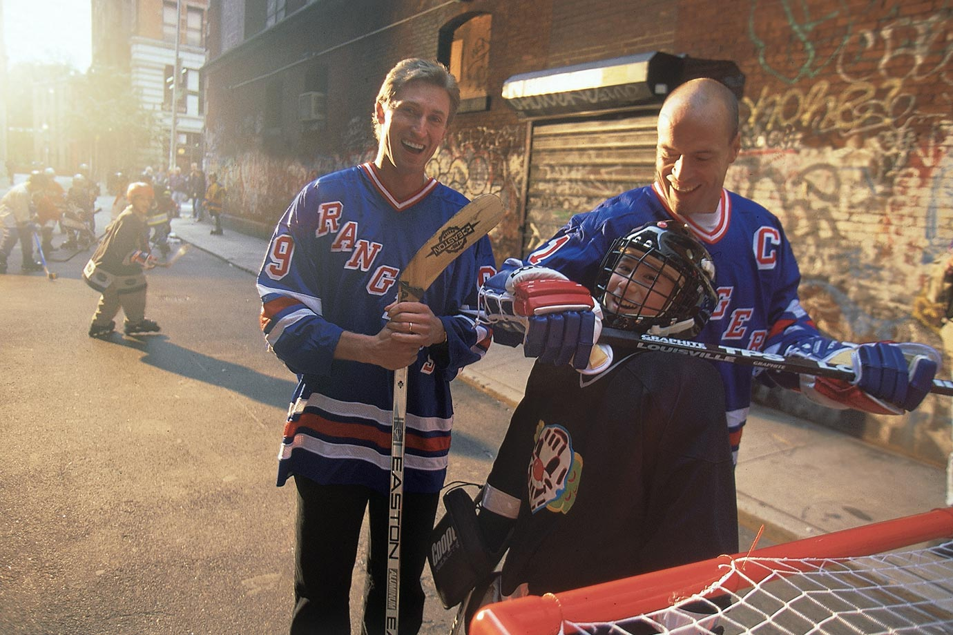 By 1996, Gretzky had moved on to the New York Rangers after a brief stay with St. Louis, reuniting him with former Oiler teammate Mark Messier.