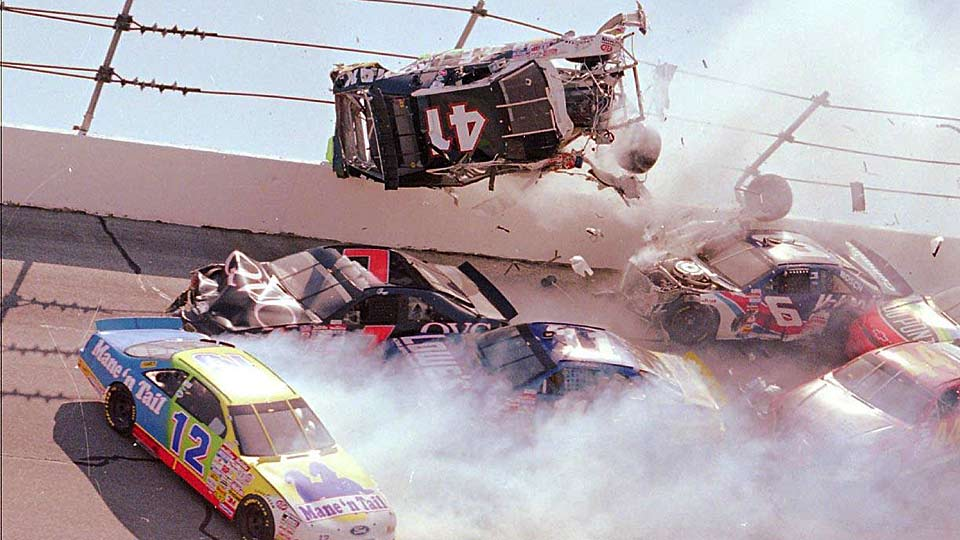 Talladega 39 s big one wrecks through the years - Coloriage cars accident ...