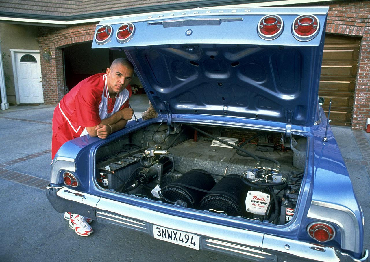 After only his second year in the pros, Jason Kidd acquired an impressive fleet of cars that included four Mercedes and this 1958 Chevy Impala.