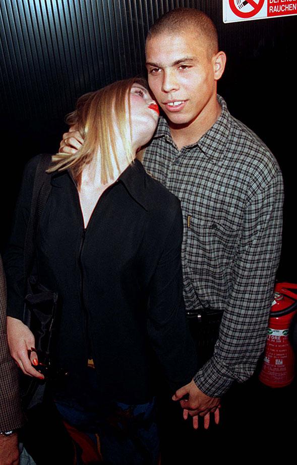 Ronaldo cuddles up to former girlfriend Susana Werner in 1997.