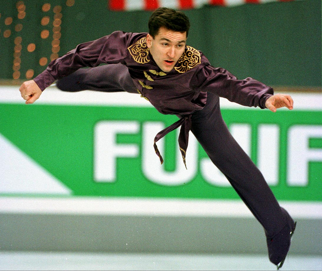 Canadian figure skater Elvis Stojko was a three-time World champion (1994, 1995, 1997) and two-time Olympic silver medalist (1994, 1998).