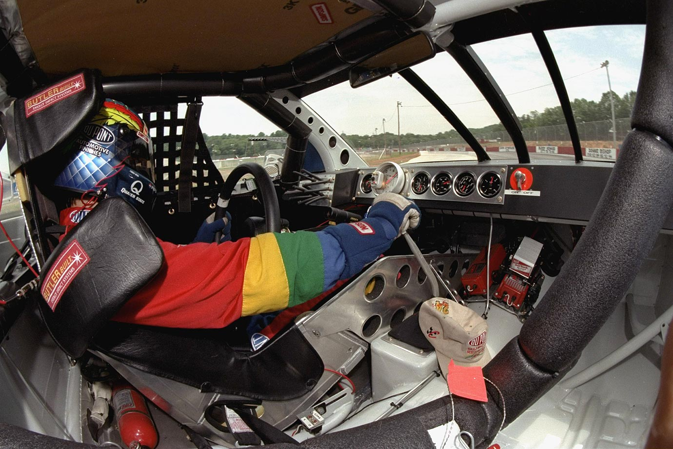 Jeff Gordon drives his car during practice at Greenville Pickens Speedway.