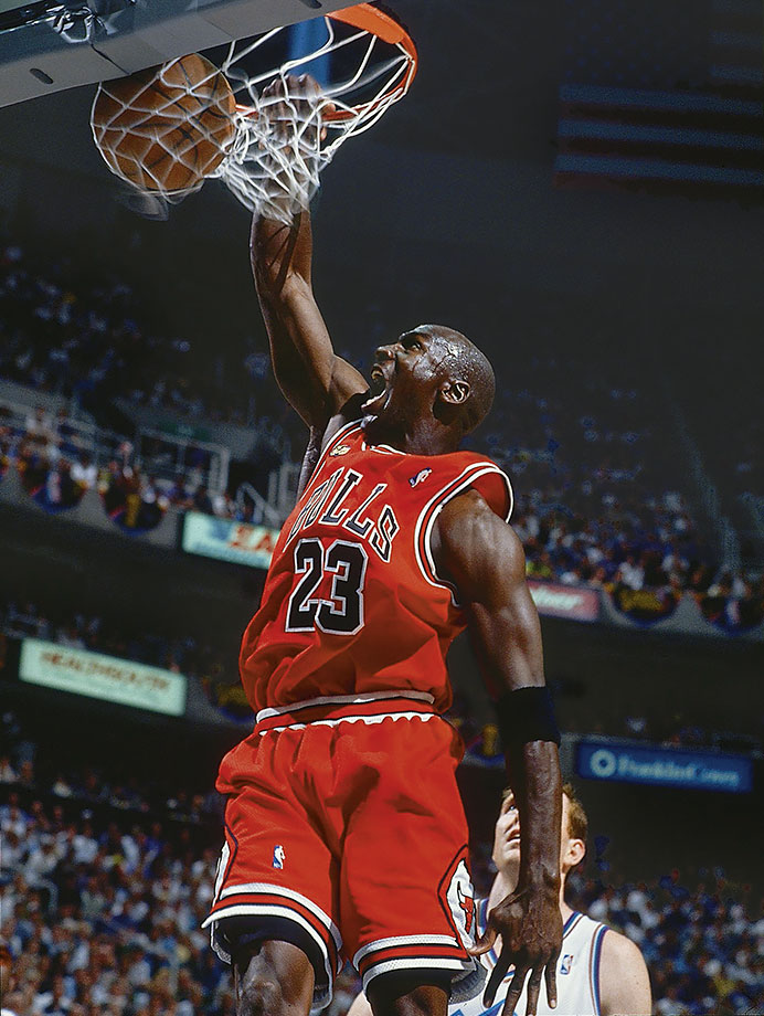 factory authentic e2ae7 29808 Michael Jordan throws down a dunk in the second half of Game 2 of the 1998