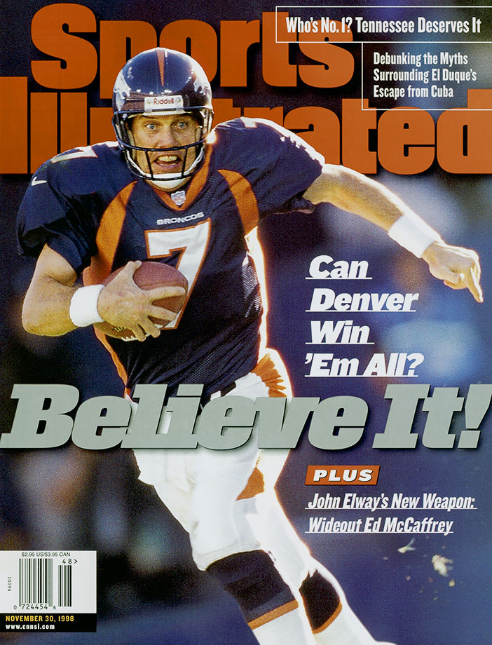 In John Elway's last season, the future Hall of Fame quarterback led the Broncos to a 13-0 start, regrouped after back-to-back losses to the Giants and Dolphins, and then marched Denver all the way to a Super Bowl XXXIII win over Atlanta.