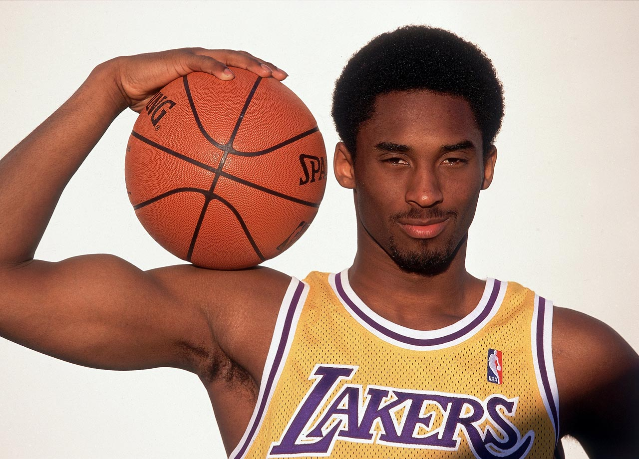 Kobe shows off his guns during this 1998 photo shoot.