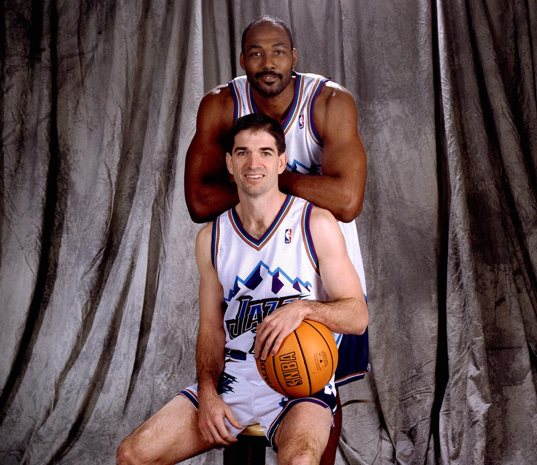 Karl Malone and longtime teammate John Stockton may go down as the best pick-and-roll combo in NBA history.