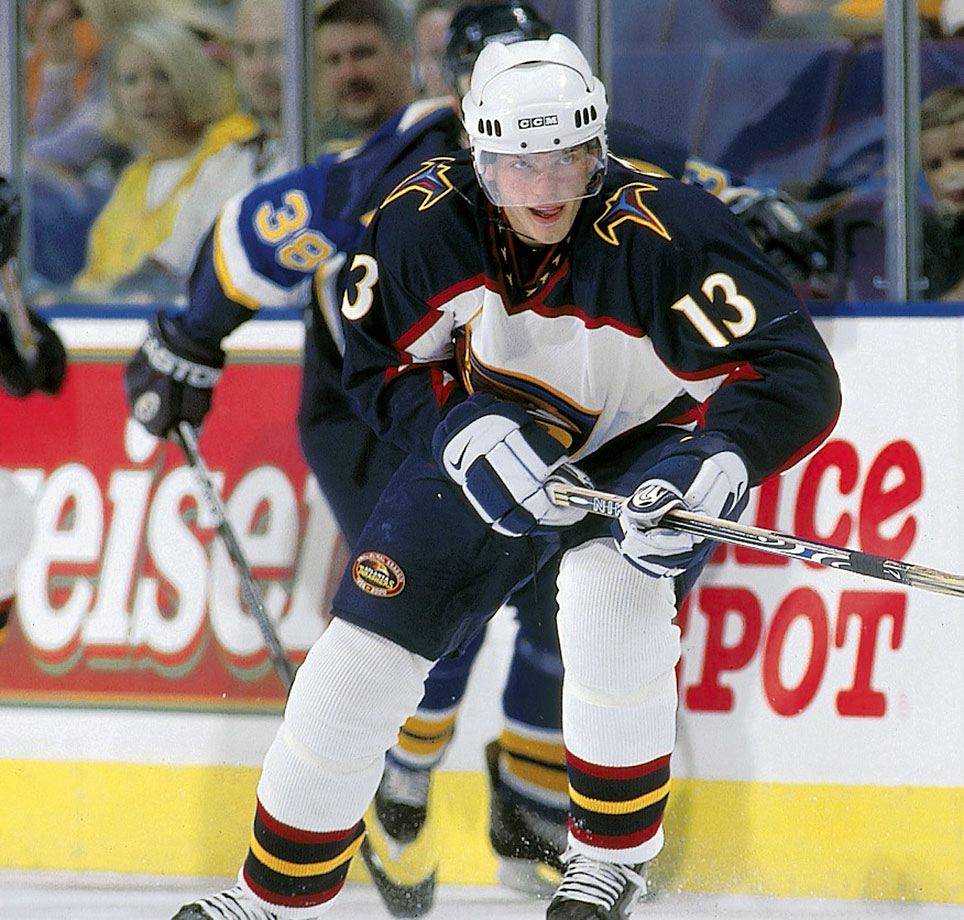 <p>The big Czech forward failed to live up to his promise, playing a soft game and never scoring more than 14 goals or 40 points in a season for the Thrashers and Dallas Stars. He was last seen in the Swiss-A league back in 2007-08. — Notable picks: No. 2: Daniel Sedin, LW, Vancouver Canucks | No. 3: Henrik Sedin, C, Vancouver Canucks | No. 138: Ryan Miller, G, Buffalo Sabres | No. 210: Henrik Zetterberg, C/LW, Detroit Red Wings</p>