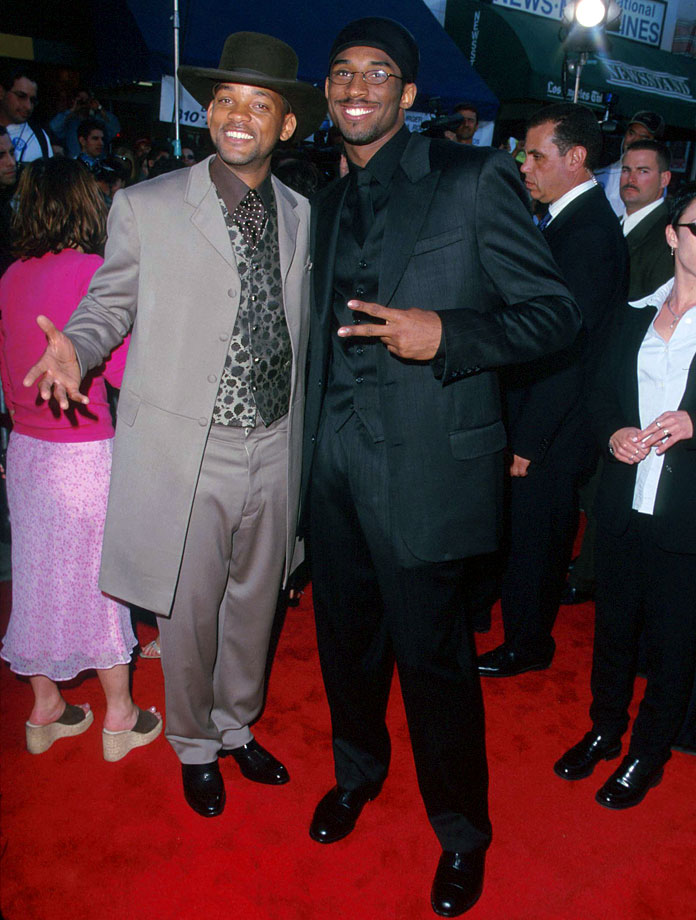 Will Smith and Kobe Bryant pose together during the ''Wild Wild West'' premiere at Mann Village Theatre in Westwood, Calif.