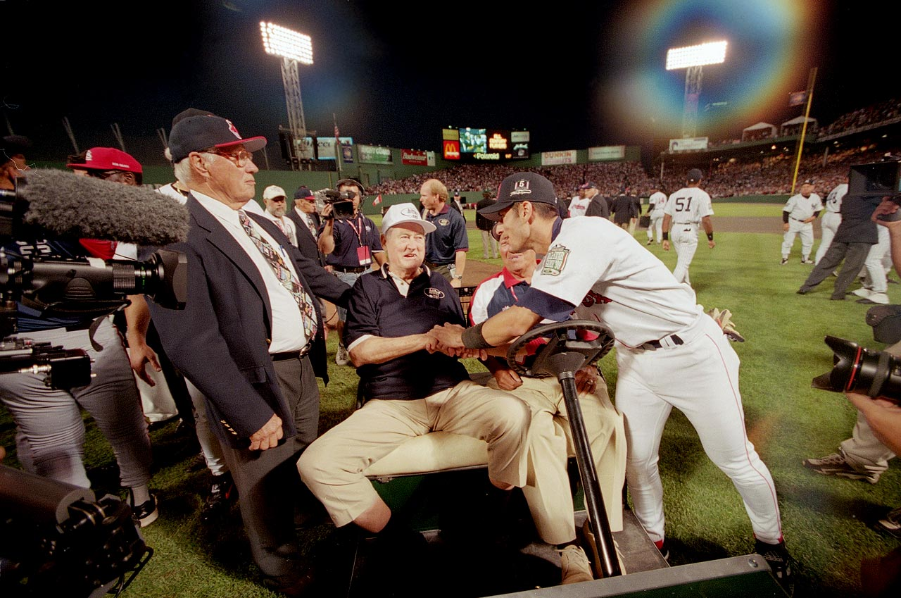 "Boston legend Ted Williams was among 41 legends introduced before the 1999 game, but none elicited a bigger reaction than ""The Greatest Hitter Who Ever Lived""."