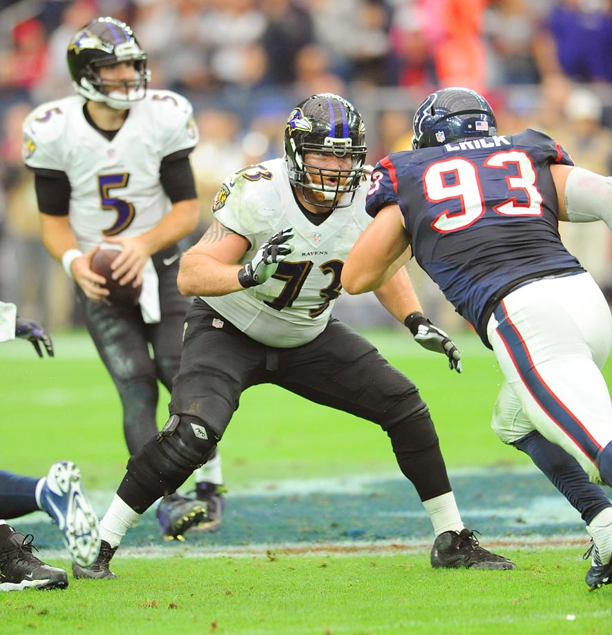 The rock star here is guard Marshal Yanda, who is the best at his position if Green Bay's Josh Sitton isn't. Right tackle Ricky Wagner was one of the league's most underrated linemen in 2014, and the group is rounded out by Eugene Monroe, Jeremy Zuttah and Kelechi Osemele.