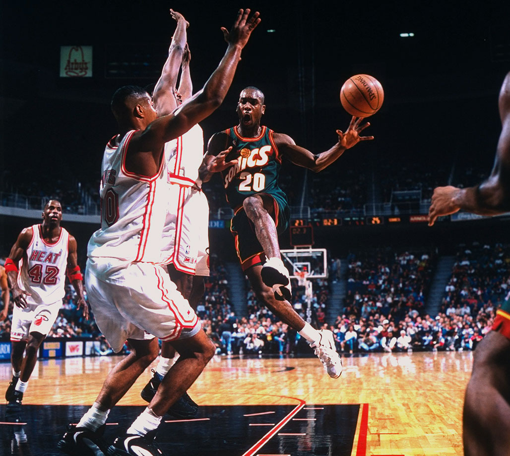 'The Glove' earned his nickname thanks to a reputation as the NBA's toughest defensive point guard, bolstered by nine straight All-Defensive first team selections from 1994-2002. Payton, a nine-time All-Star, was no slouch on the offensive end, either, with a well-rounded game and the ability to create for others and get buckets when needed. One of the iconic players in the history of the Sonics, Payton would hit a huge shot as a member of the Heat in Game 5 of 2006 Finals to help Miami seize the title, his lone championship.                                   —Runner-up: Manu Ginobili