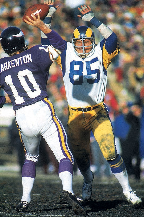 Youngblood played a remarkable 201 straight games, missing his first and only contest in 1984, his final season. His Credentials: Inducted into NFL Hall of Fame in 2001, seven-time Pro Bowl selection, five-time All-Pro, NFC Defensive Player of the Year in 1975 and '76, named to NFL's All-Decade Team for the 1970s, missed just one game in 14-year career. Others in Consideration: Tamba Hali (2006, Chiefs); Steve Atwater (1989, Broncos); Haywood Jeffires (1987, Oilers); Mike Quick (1982, Eagles)