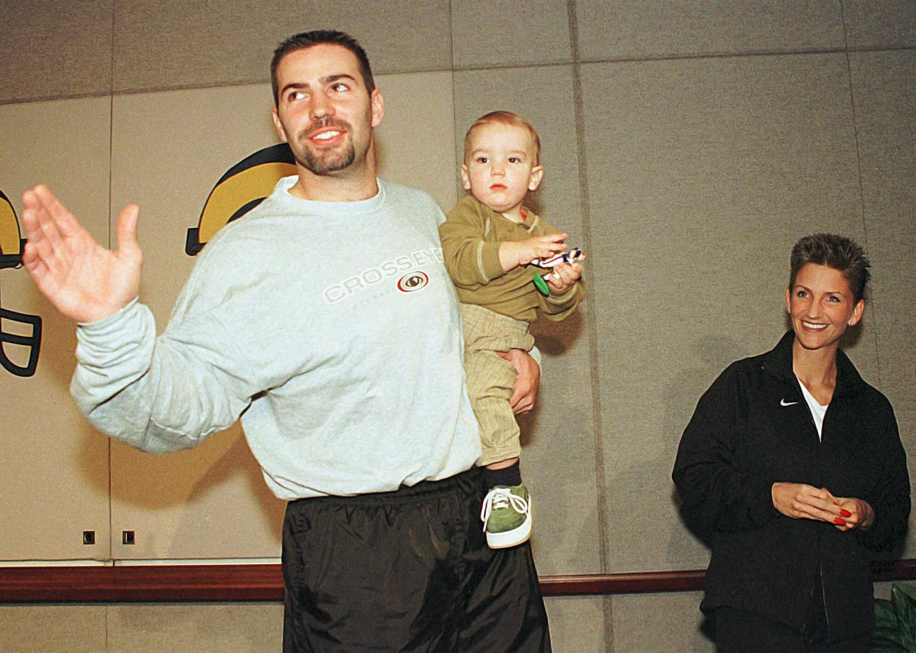 Kurt Warner and son Kade