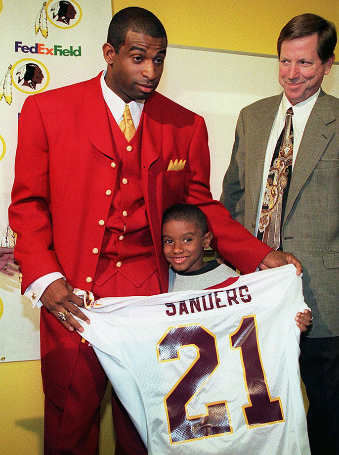 Deion Sanders and son Deion Jr.