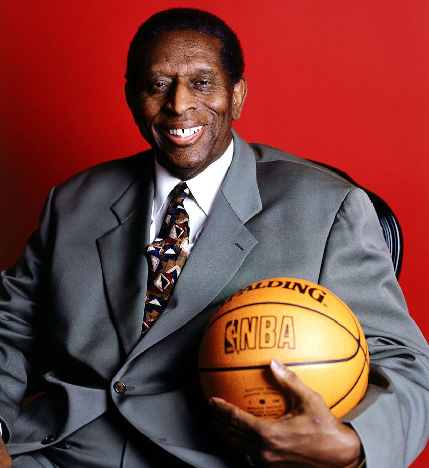 Earl Lloyd poses for a portrait in 2000. For his career, he averaged 8.4 points, 6.4 rebounds and 1.4 assists, scoring 4,682 points in 560 games. The forward's best season came in 1954-55, when he averaged 10.2 points and 7.7 rebounds, both of which were career highs.