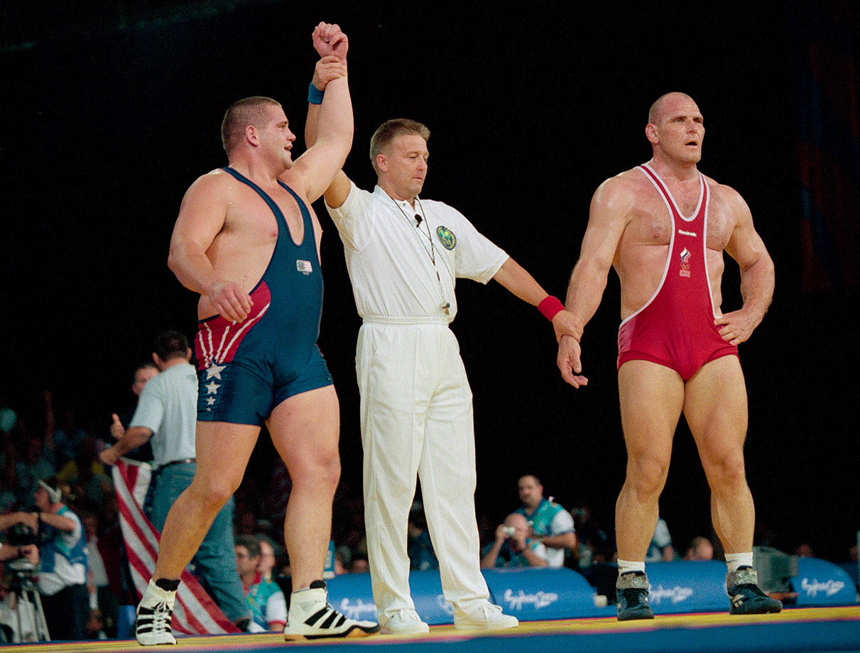 Karelin, the three-time defending champion in Greco-Roman wrestling, had never lost in international competition and was on a 13-year winning streak. Gardner, an Olympic novice, wasn't even expected to contend for a medal. But the 29-year-old from Wyoming stunned the Russian 1-0 in overtime of the 286-pound final.