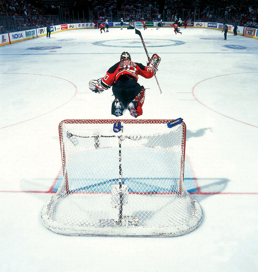 Goalie Martin Brodeur was feeling sky high as his Devils dusted Dallas in double overtime of Game 6, ending the Stars' hopes of winning a second consecutive Stanley Cup. The championship was the second of the netminder's career.
