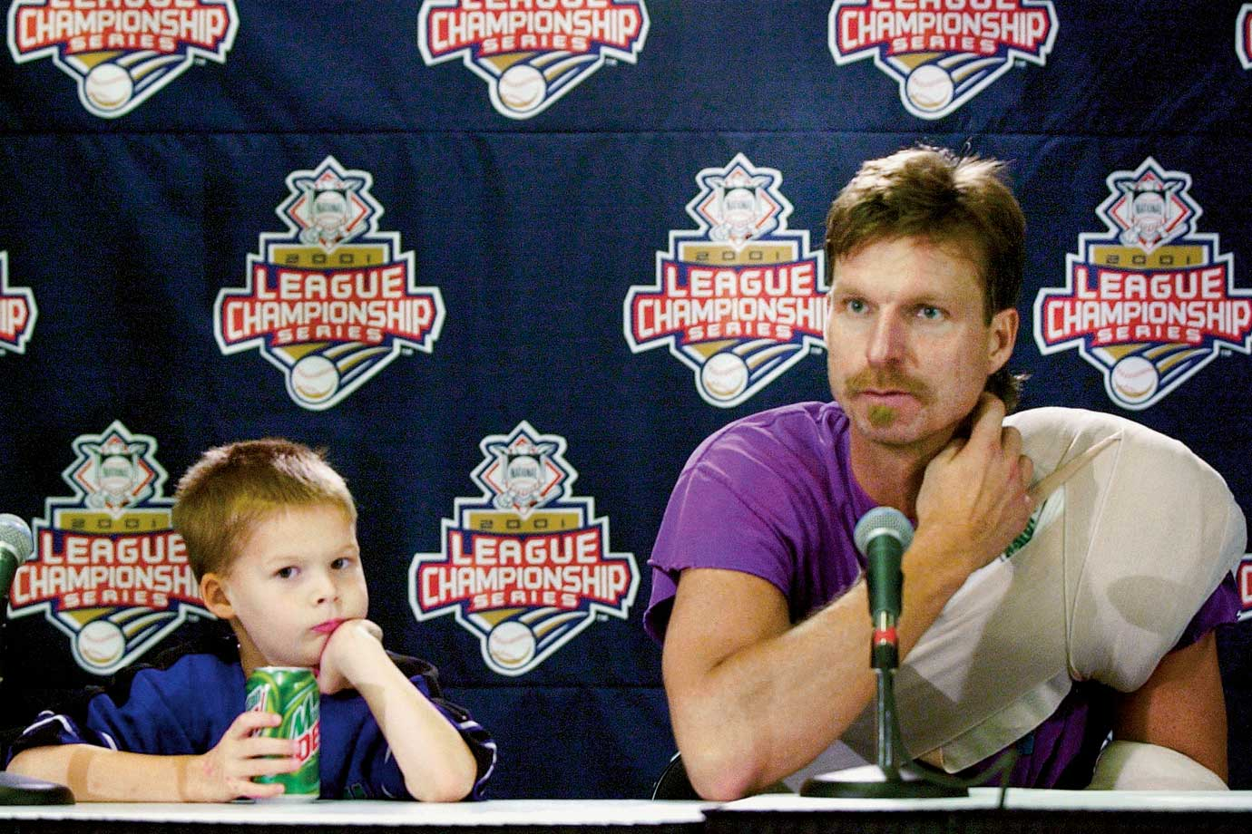 Randy Johnson and son Tanner