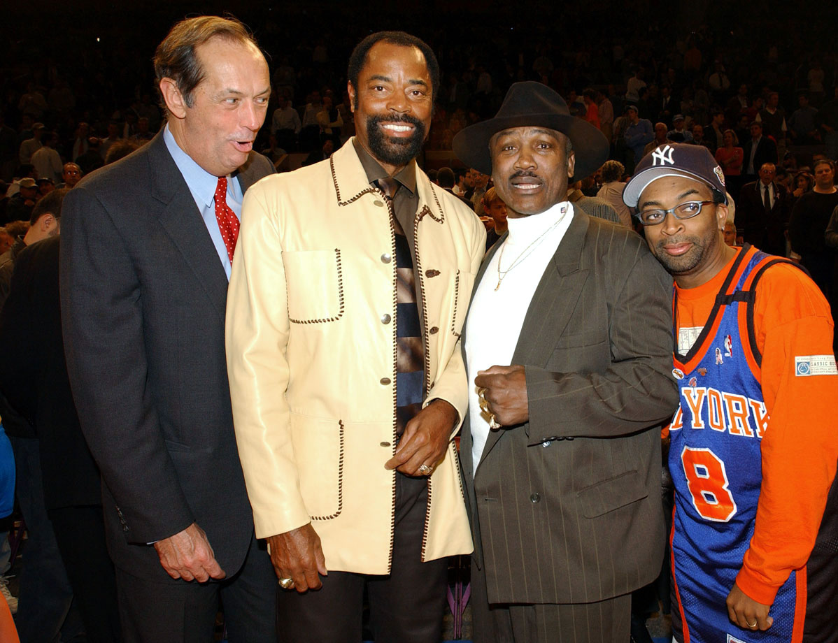 with Bill Bradley, Joe Frazier and Spike Lee