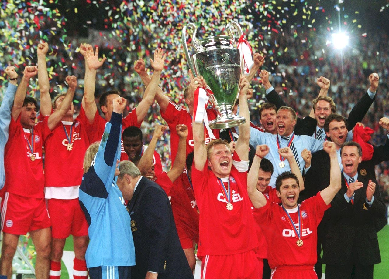 Bayern wins the Champions League after defeating Valencia on penalty kicks at the San Siro in Milan, Italy.