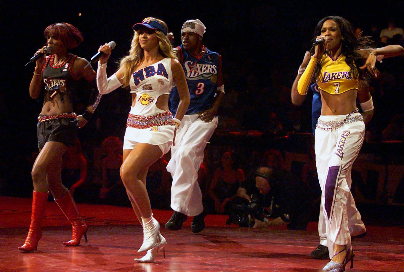 "Not exactly the highest point in Queen Bey's career, but still notable nonetheless. It wasn't Destiny's Child's singing or dancing that got Philly fans all riled up at the 2001 NBA Finals. Apparently it was Michelle Williams' Lakers outfit that made 76ers fans—who were insulted that the performer would show the rival team love—boo after the group performed ""Bootylicious."""