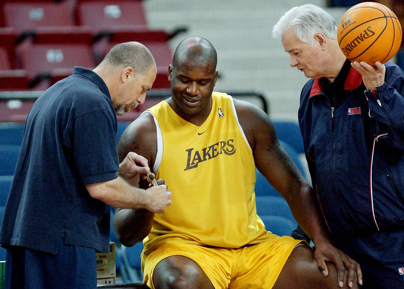 Gary Vitti, Shaquille O'Neal and assistant coach Tex Winter